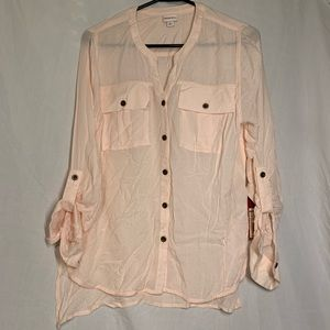 NWT Merona light pink button down blouse!✨